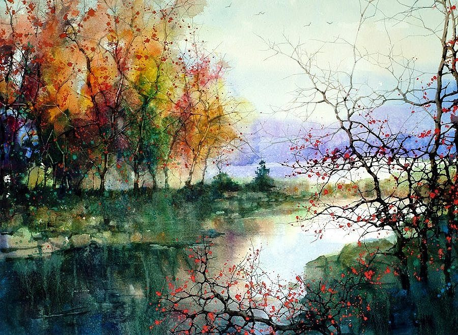 The Abstract Beauty of Z.L. Feng's Watercolors
