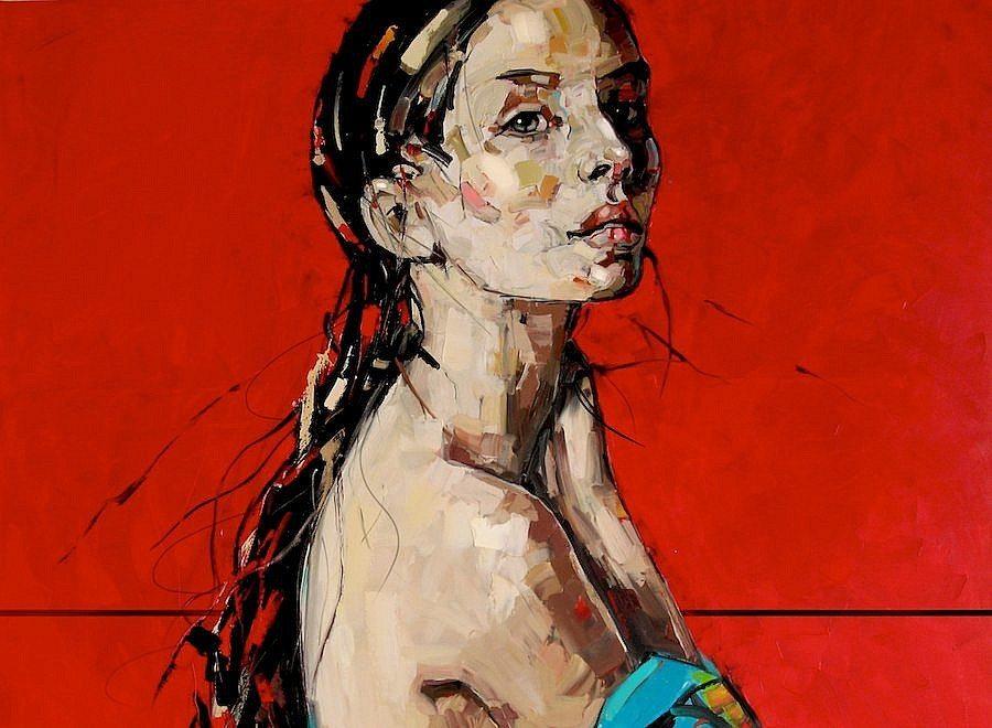 Woman Disrobing by Anna Bocek