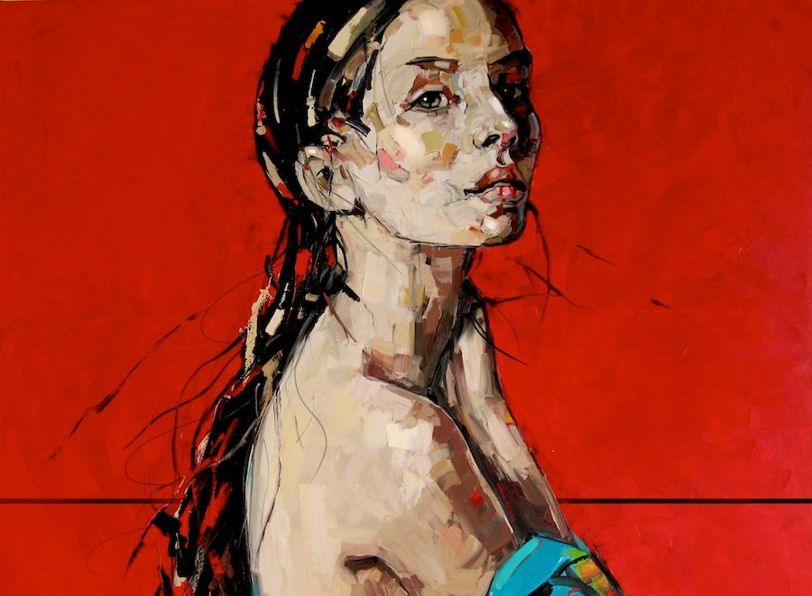 Woman Disrobing by Anna Bocek