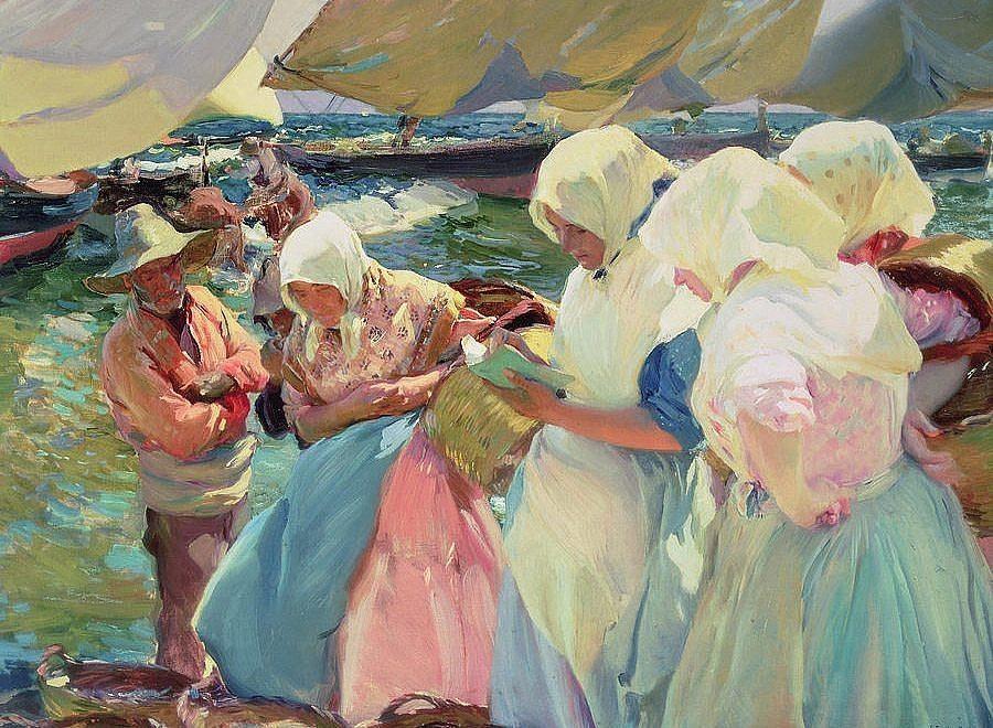 Joaquin Sorolla's Fisherwomen